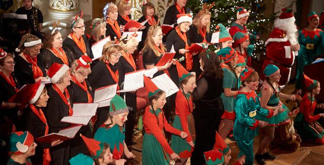 Santa's Sing Along volunteers
